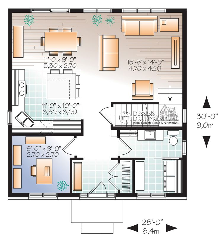 Zen contemporain w3716 maison laprise maisons pr for Plan contemporain