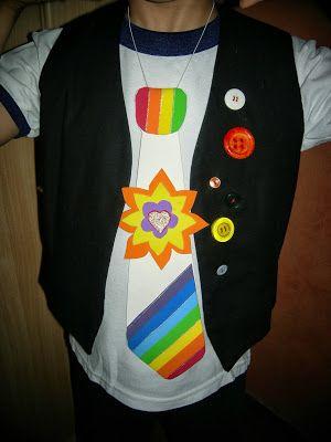 Arte Gabrielle: DISFRAZ PRIMAVERAL - Sombrero y Corbata multicolor para festejar la primavera