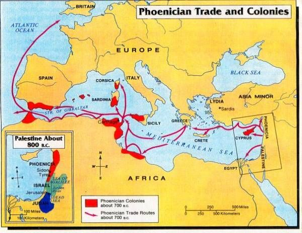 Image result for phoenician colonies map