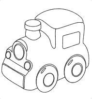 Colorear dibujo Tren