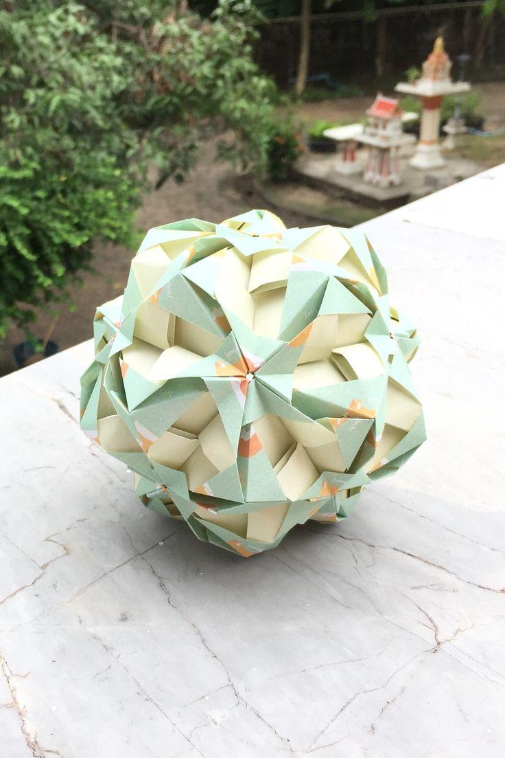 Window Kusudama Prworigami Origami Crafts Origami Crafts