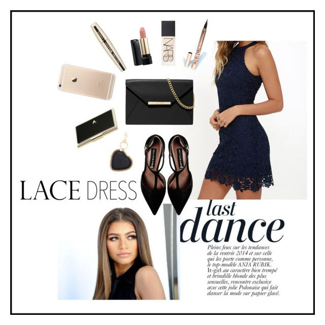 """Navy Blue Lace"" by eiram-schultz on Polyvore featuring Anja, Lulu*s, Steve Madden, MICHAEL Michael Kors, L'Oréal Paris, LASplash, NARS Cosmetics, Lancôme, STELLA McCARTNEY and Kate Spade"