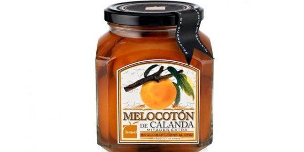 """MELOCOTÓN AL VINO.  Una auténtica delicia de conserva dulce de melocotón. Elaborada en Calanda, en el Bajo Aragón. Sabrosas mitades de melocotón """"macerados"""" en vino y con Denominación de Origen. Soberbio. http://www.porprincipio.com/conservas-vegetales/19-melocoton-calanda-vino.html#"""