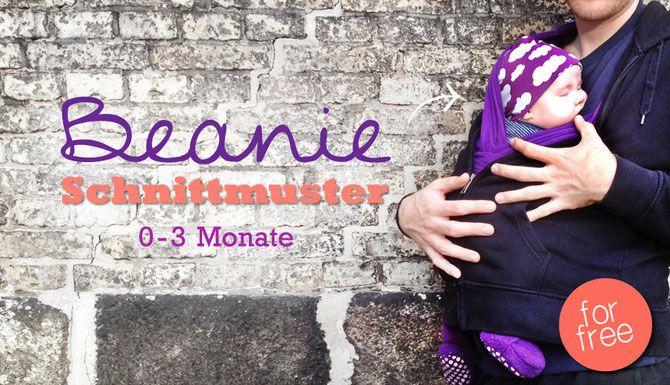 Baby Wendebeanie mit Ohrenschutz - Kostenloses Schnittmuster - pdf Freebook   Lybstes