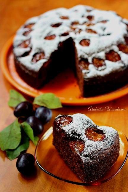 Kakaowe ciasto jogurtowe ze sliwkami7