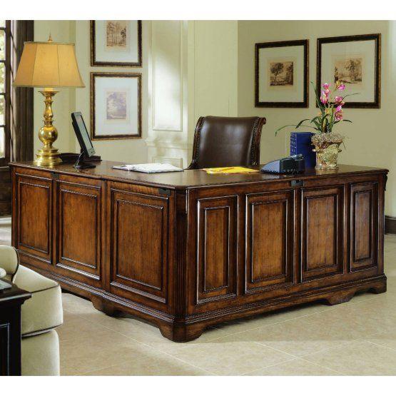 Hooker Furniture Brookhaven Pedestal Desk