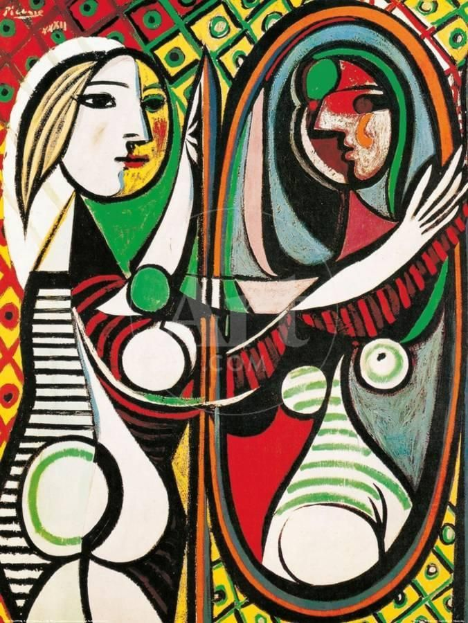 Girl Before A Mirror C 1932 Art Print Pablo Picasso Art Com In 2020 Picasso Artwork Picasso Art Picasso Paintings