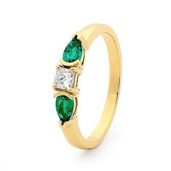 Emerald and Diamond Ring - BEE-25506-G