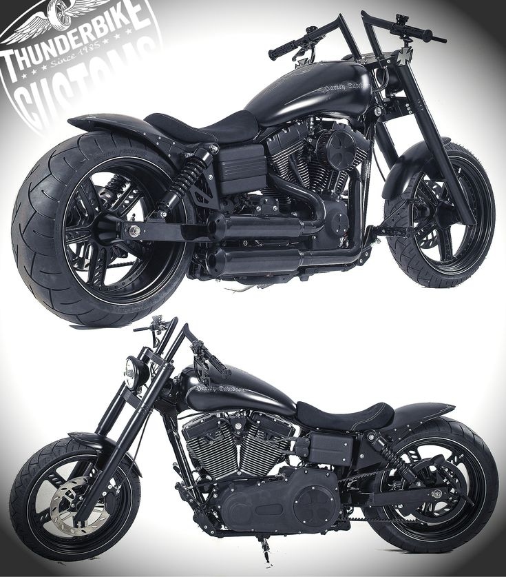 Dark Bob Customized Harley-Davidson Dyna Streetbob by Thunderbike