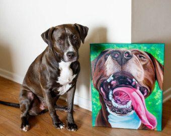 Acryl gepersonaliseerde huisdier portretten aangepaste