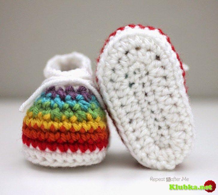 """Scarpette da neonato """"Rainbow"""""""
