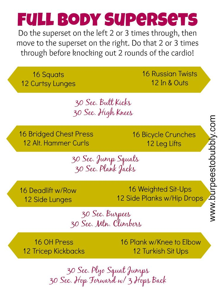 Wednesday Workout: Full Body Supersets Workout