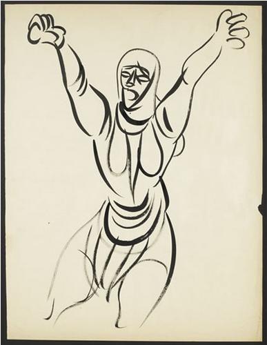 Abidin Dino (1913 - 1993)   Social Realism   Lament/Nomads - 1940