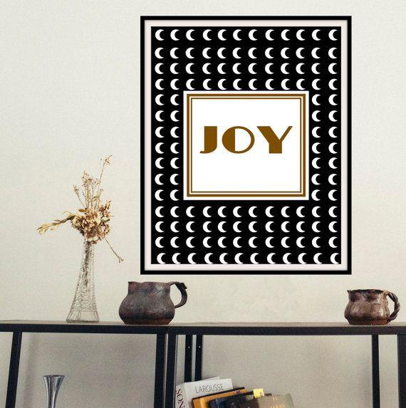 Printable inspirational wall art Joy instant by mntpaperwork