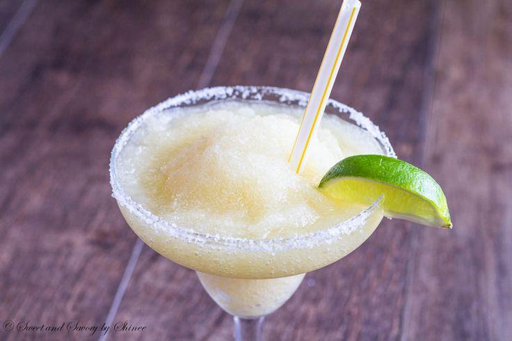 Frozen Beer Margarita - lime juice + tequila + triple sec + orange juice + sugar + ice + Corona + kosher salt