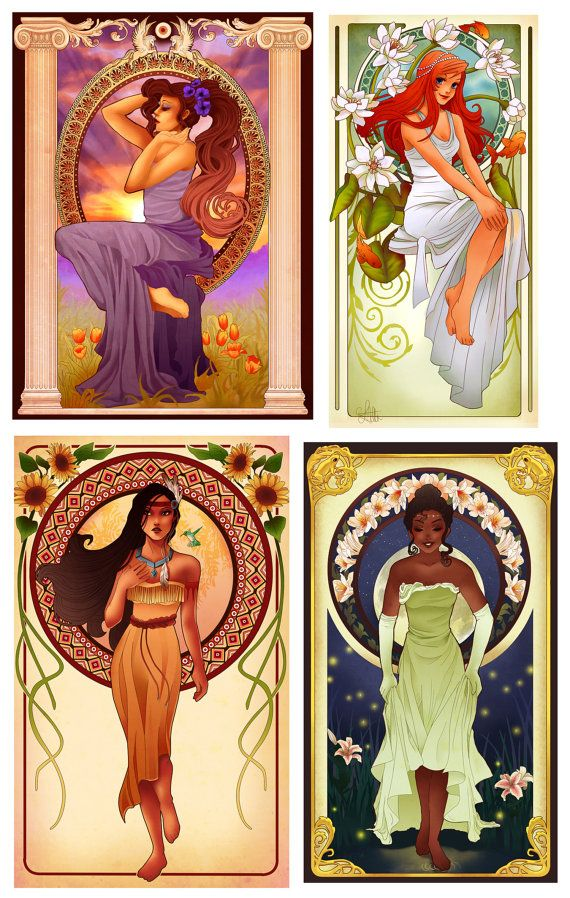 Packs of 3, 6 or 12 prints of your choice, from the Art Nouveau Disney Princess collection.    Simply make your purchase, then during checkout