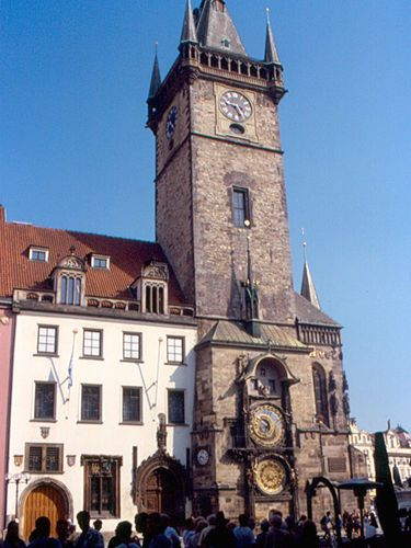 Prague's Old Town Square with the Astronomical Clock.  ... something interesting to note - the Astronomical clock was first installed in 1410, making it the third-oldest astronomical clock in the world and the oldest one still to work.