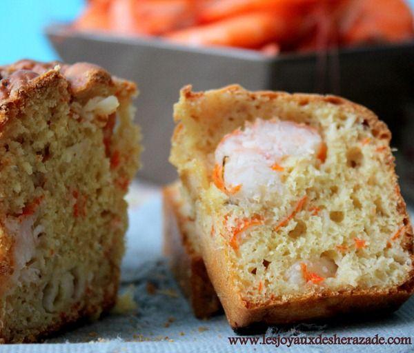 Cake salé facile / crevettes - surimi