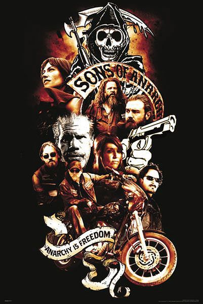 Póster Sons of Anarchy. Anarchy is Freedom