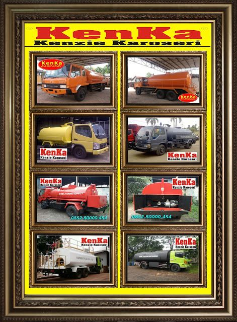 KAROSERI TRUCK TANGKI VACUUM ( Tinja - Lumpur - Cruide Oil - CPO ) >> KAROSERI KENKA