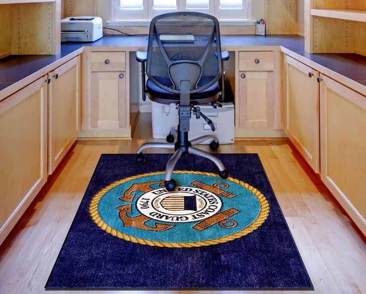 custom logo rugs. Buy #U.S.CoastGuard Logo Rug Online | Rats Custom Rugs