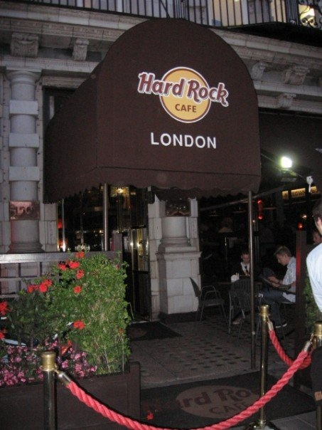 Hard Rock Cafe London, the original!  We were so excited to get real American food - best hamburger ever!