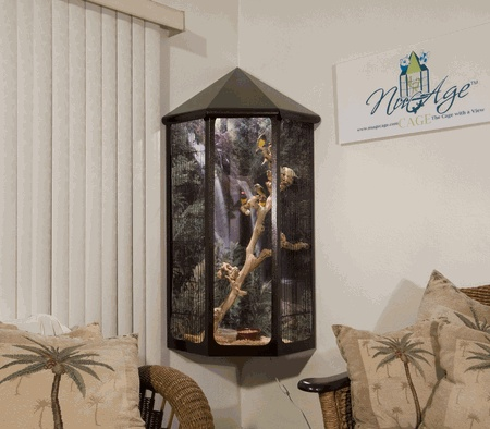 Wall Hanging Bird Cage Hanging Corner Cage With A View
