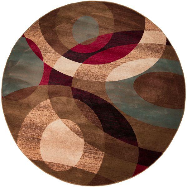 High Quality Bohdan Meticulously Woven Tan Contemporary Geometric Rug (8u0027 Round)