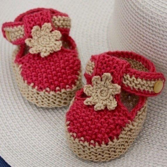 Knitting PATTERN PDF file Tstrap Baby Booties by loasidellamaglia, $3.99
