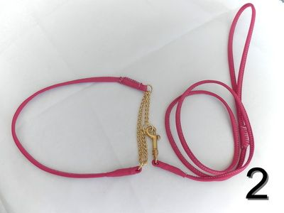 Plain leather show lead made to your exact requirements for any breed as we use a very strong inner core . These Show dog leads can be made as 2 separate ie collar and lead or as an all in one style http://showdogleads.weebly.com/show-leads.html