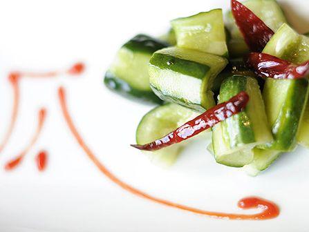 """Diao Yu Tai Cucumber Salad"" EPCOT Nine Dragons Restaurant - Recipe: http://di.sn/b81"