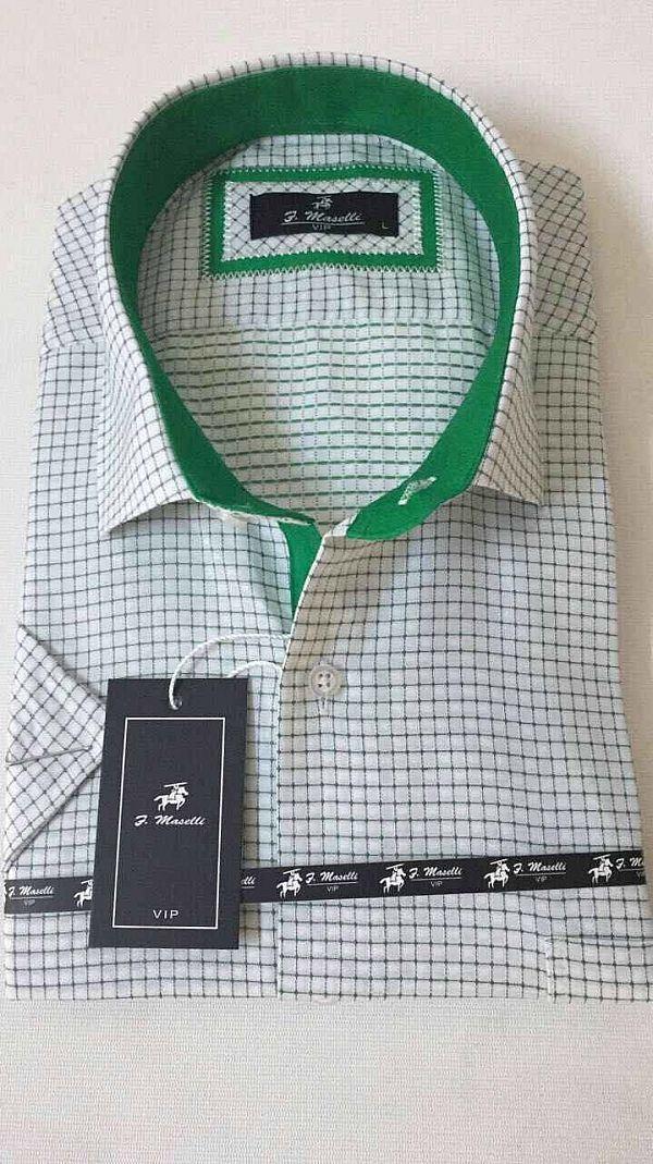 Изготовитель:    Maselli(Турция) Материал:    коттон Стиль:    классика  Принт:    абстрактный Тип кроя:    классический Рукав:    короткий  Цена за ед.:    7.80 $  Цена за упаковку.:    39.00 $   Количество в упаковке:    5 Моделька:белая с зеленой отделкой (Артикул: 00084-2619)