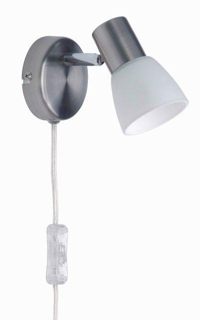 LUCA - bodové osvetlenie na stenu - chróm + sklo