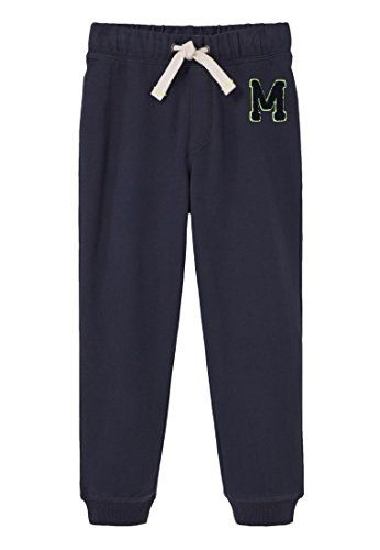 MANGO KIDS - Mango logo jogging trousers - Size:11-12 years - Color:Navy Cotton fabric, embroidered mango logo on the side, elastic waist with drawstring, cuffed hem (Barcode EAN = 8433884980236). http://www.comparestoreprices.co.uk/december-2016-5/mango-kids--mango-logo-jogging-trousers--size11-12-years--colornavy.asp