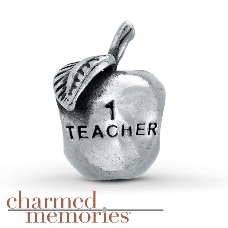 925 Sterling Silver #1 Teacher Apple Bead Charm Fits Pandora Bracelet F8QITP