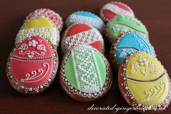 Decorated egg biscuits
