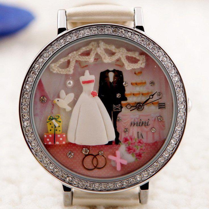 REF.38 Reloj con mini-figuras en 3d porcelana fría.  100% originales, garantía 1 año