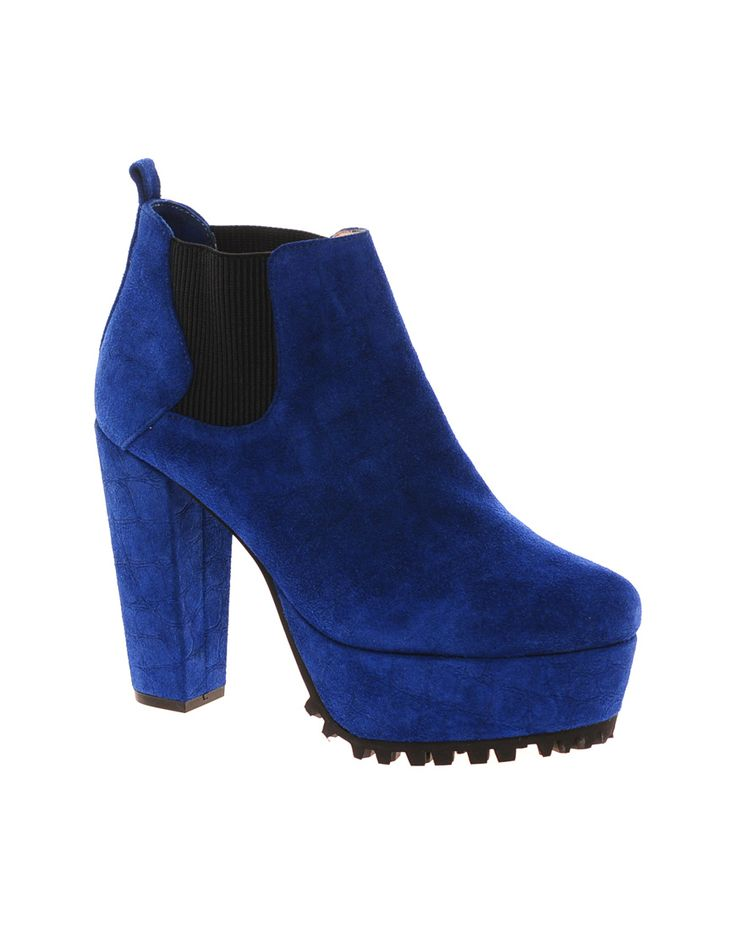 $84, Blue Suede Ankle Boots: Senso Rex Blue Platform Ankle Boots. Sold by Asos. Click for more info: https://lookastic.com/women/shop_items/145873/redirect