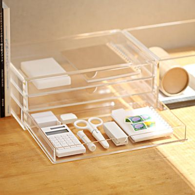 Acrylic Case with 3 Drawers http://www.muji.us/store/storage/acrylic-cases/acrylic-case-with-3-drawers.html