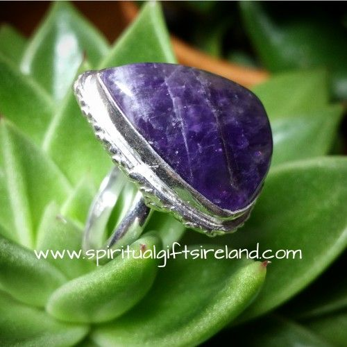Chunky Amethyst Ring Visit our store at www.spiritualgiftsireland.com  Follow Spiritual Gifts Ireland on www.facebook.com/spiritualgiftsireland www.instagram.com/spiritualgiftsireland www.etsy.com/shop/spiritualgiftireland	  We are also featured on Tumblr