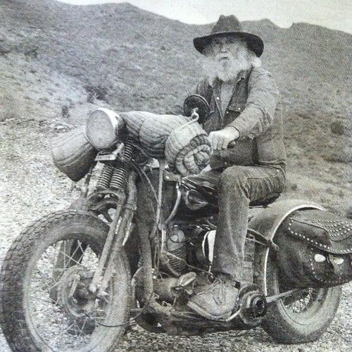 old cowboy on his steel horse | #motorcycle #motorbike
