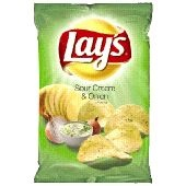 Lays sour cream and herbs