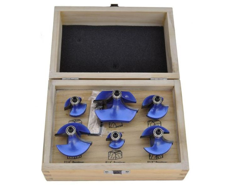 Roundover Router Bit Set - 6 Piece
