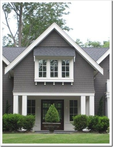 17 best ideas about gray exterior houses on pinterest exterior design exterior colors and - Exterior white trim paint pict ...