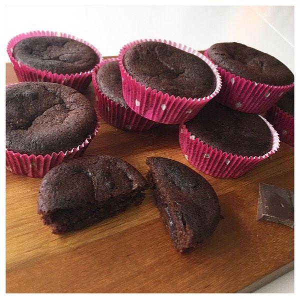 Något som jag saknat under min tid som lchf:are är smarriga chokladmuffins. 2 st ägg 50 gram osaltat smör 1 dl mandelmjöl 5 msk vispgrädde 1 msk kallt kaffe 3 msk sötströ 3 msk kakao 2 msk kokosmjöl 0.5 tsk bakpulver  9 rutor mörk choklad