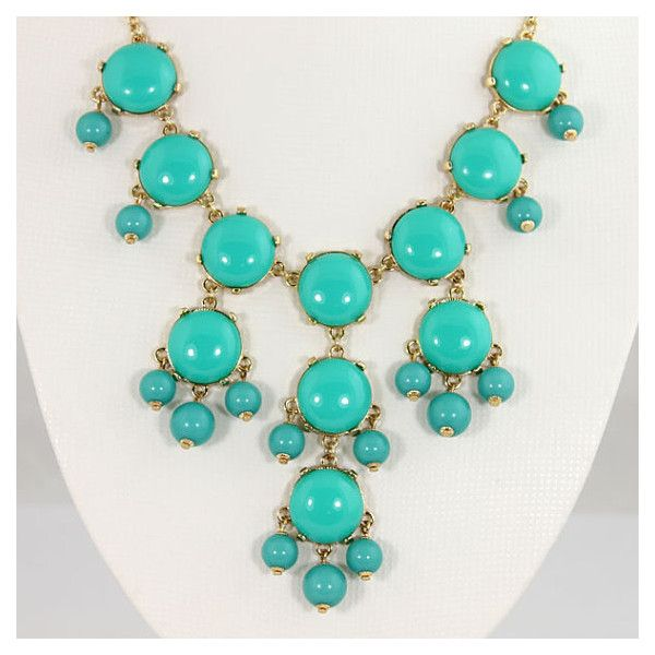 BRAND NEW TURQUOISE BUBBLE NECKLACE found on Polyvore featuring polyvore, women's fashion, jewelry, necklaces, turquoise necklaces, turquoise bubble necklace, turquoise jewellery, bubble necklace and turquoise jewelry