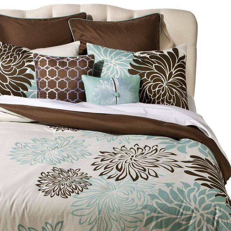 My Favorite Bedroom In The World Turkish Bedroom Mixing: Anya 8 Piece Floral Print Bedding Set - Blue/Brown