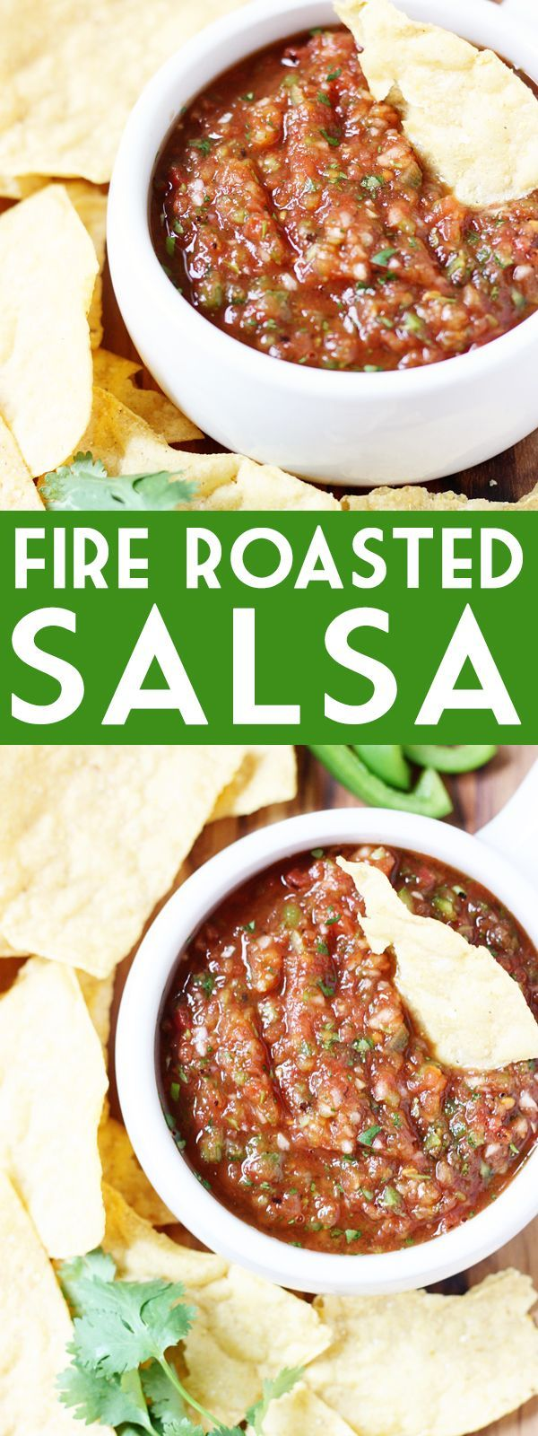 Fire Roasted Salsa Recipe - This fire roasted salsa is one of my all-time favorite homemade salsa recipes and reminiscent of your favorite restaurant salsa! | isthisreallymylife.com