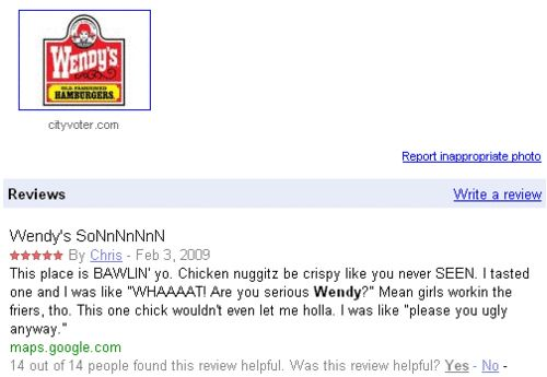 i love wendys as much as this guy.: Review Help, Chicken Nuggets, Funny Things, Wendy Review, Website, Funny Random, Funny Stuff, Serious Wendy, 14 People