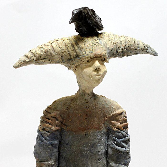 Sitting Raven/Ceramic Sculpture/ Unique Ceramic Figurine by arekszwed on Etsy